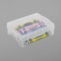 Advantus 40311 4 3/4 inch x 3 1/2 inch x 1 5/8 inch Clear Plastic Super Stacker Crayon Box