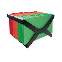 Advantus 63000 16 inch x 12 inch x 10 3/4 inch Black Plastic Letter / Legal Size Hanging File Rack