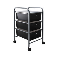 Advantus 34006 13 inch x 15 3/8 inch x 25 7/8 inch Smoke Gray Portable 3-Drawer Organizer