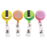 Advantus 91161 30 inch Assorted Color Deluxe Retractable ID Card Reel - 30/Pack