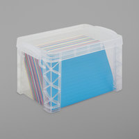Advantus 40305 7 1/4 inch x 5 inch x 4 3/4 inch Clear Plastic Super Stacker Index Storage Box