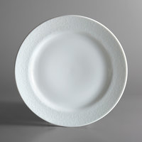 Oneida L5803050140 Ivy Flourish 9 1/4 inch Bright White Porcelain Plate - 24/Case
