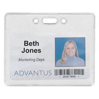 Advantus 75450 3 3/8 inch x 2 3/8 inch Clear Horizontal Proximity ID Badge Holder - 50/Pack