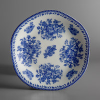 Oneida L6703061119 Lancaster Garden 6 1/2 inch Blue Porcelain Plate - 48/Case