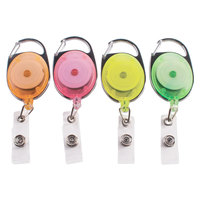 Advantus 91119 30 inch Assorted Neon Carabiner-Style Retractable ID Card Reel   - 20/Pack