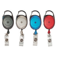 Advantus 75552 30 inch Assorted Color Carabiner-Style Retractable ID Card Reel   - 20/Pack