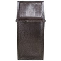 Continental 5735BN King Kan 35 Gallon Brown Waste Receptacle with Hinged Lid