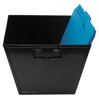 Advantus 63009 15 1/4 inch x 11 1/4 inch x 7 1/4 inch Legal Size Black Steel File and Storage Bin