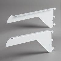 Avantco 189SBRKT28WK White Air Curtain Shelf Bracket Set