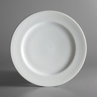 Oneida L5803050152 Ivy Flourish 10 3/4 inch Bright White Porcelain Plate - 12/Case