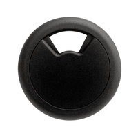 Master Caster 00202 2 3/8 inch Black Adjustable Grommet