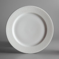 Oneida L5803050162 Ivy Flourish 11 inch Bright White Porcelain Plate - 12/Case