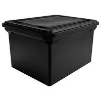 Advantus 34052 14 1/8 inch x 18 inch x 10 3/4 inch Black Plastic File Storage Bin with Lid