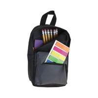 Advantus 94032 4 1/2 inch x 2 1/2 inch x 7 3/4 inch Black Backpack Pencil Pouch