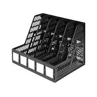 Advantus 34092 Black 5 Compartment Plastic Desktop Magazine/Literature File