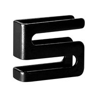 Alera ALESW59SHBL Black S Hook for Wire Shelves   - 4/Pack