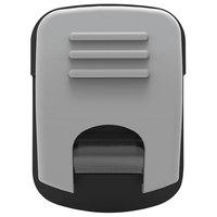 Advantus 91172 1 3/4 inch x 1 1/4 inch Gray Magnetic / Adhesive Clip - 10/Box