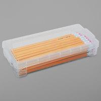 Advantus 40309 8 1/4 inch x 3 3/4 inch x 1 1/2 inch Clear Plastic Super Stacker Pencil Box