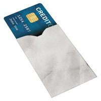 Advantus 76352 2 inch x 3 3/4 inch White RFID Blocking Credit Card Sleeve - 10/Pack