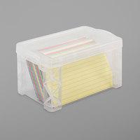 Advantus 40307 6 1/4 inch x 3 7/8 inch x 3 1/2 inch Clear Plastic Super Stacker Index Storage Box