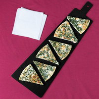 Cal-Mil 1535-24-13 Black Trapezoid Flat Bread Serving / Display Board with Handle - 23 3/4 inch x 8 inch x 1/4 inch