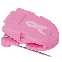 Advantus 75349 40-Sheet Capacity Pink Breast Cancer Awareness Fabric Panel Wall Clip - 10/Box