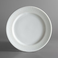 Oneida L5803050133 Ivy Flourish 8 1/4 inch Bright White Porcelain Plate - 24/Case