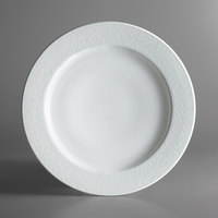 Oneida L5803050163 Ivy Flourish 12 inch Bright White Porcelain Plate - 12/Case