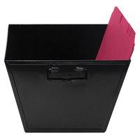 Advantus 63008 12 1/8 inch x 11 1/4 inch x 7 3/8 inch Letter Size Black Steel File and Storage Bin