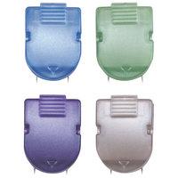 Advantus 75338 40-Sheet Capacity Assorted Metallic Color Fabric Panel Wall Clip - 20/Box