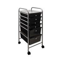 Advantus 34005 13 inch x 15 3/8 inch x 32 1/8 inch Smoke Gray Portable 6-Drawer Organizer