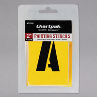 Chartpak 01555 Manila 2 inch A-Z/0-9 Painting Stencils - 35/Pack
