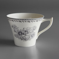 Oneida L6703068520 Lancaster Garden 6 oz. Grey Porcelain Tea Cup - 48/Case
