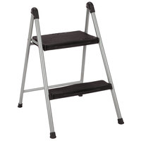 Cosco 11024PBL1E Platinum / Black Two-Step Folding Step Stool