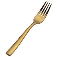 Bon Chef S3007GM Manhattan 6 3/4 inch 18/10 Extra Heavy Weight Matte Gold Stainless Steel Salad Fork - 12/Pack