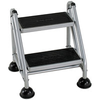 Cosco 11824GGB1 Platinum / Black Two-Step Rolling Step Stool