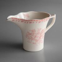 Oneida L6703052807 Lancaster Garden 6 oz. Pink Porcelain Creamer - 36/Case