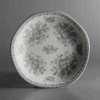 Oneida L6703068132 Lancaster Garden 8 inch Grey Porcelain Plate - 24/Case