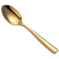 Bon Chef S3016G Manhattan 4 7/8 inch 18/10 Extra Heavy Weight Gold Stainless Steel Demitasse Spoon - 12/Pack