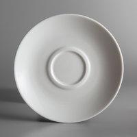 Oneida R4840000500 Circa 6 1/4 inch Bright White Porcelain Saucer - 36/Case