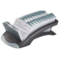Durable 241201 TELINDEX Graphite / Black 500 Card Address Card File for 4 1/8 inch x 2 7/8 inch Cards