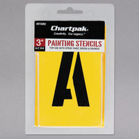 Chartpak 01560 Manila 3 inch A-Z/0-9 Painting Stencils - 35/Pack