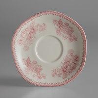 Oneida L6703052500 Lancaster Garden 6 inch Pink Porcelain Saucer - 48/Case