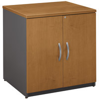 Bush WC72496A Series C Collection Natural Cherry Storage Cabinet - 29 1/2 inch x 23 3/8 inch x 29 7/8 inch