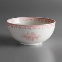 Oneida L6703052730 Lancaster Garden 7 oz. Pink Porcelain Bowl - 48/Case