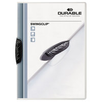Durable 226301 Swingclip Clear Letter Sized 30 Page Report Cover - 25/Pack