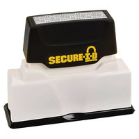 Cosco 034590 2 1/2 inch x 5/16 inch Secure-I-D Black Security Block Stamp