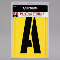 Chartpak 01590 Manila 12 inch A-Z Painting Stencils - 26/Pack