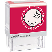 Cosco 039605 1 1/2 inch x 1 1/2 inch Make It Mine Black Textile Stamp