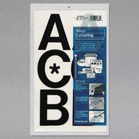 Chartpak 01070 Black Adhesive 3 inch Vinyl Helvetica Letters - 50/Pack